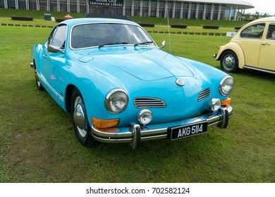 KUALA LUMPUR, MALAYSIA - AUGUST 13, 2017: Volkswagen Karmann Ghia at the VW Car Festival.