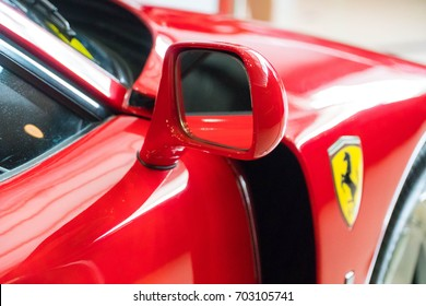KUALA LUMPUR, MALAYSIA - AUGUST 13, 2017: Ferrari F40 at showroom in Kuala Lumpur, Malaysia. The Ferrari F40 is a mid-engine, rear-wheel drive, two-door coupé sports car built from 1987 to 1992