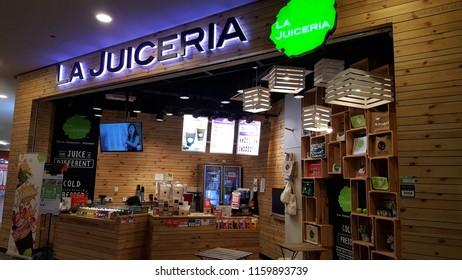Kuala Lumpur / Malaysia - August 20 2018: La Juiceria juice store in shopping mall