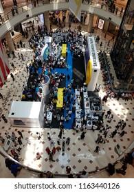 Kuala Lumpur, Malaysia. August 24, 2018. Samsung launching new flagship phone, Note9 by organizing a Roadshow at Suria Mall,  KLCC