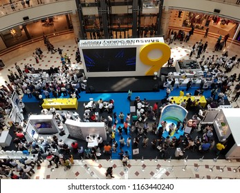 Kuala Lumpur, Malaysia. August 24, 2018. Samsung launching new flagship phone, Note9 by organizing a Roadshow at Suria Mall,  KLCC