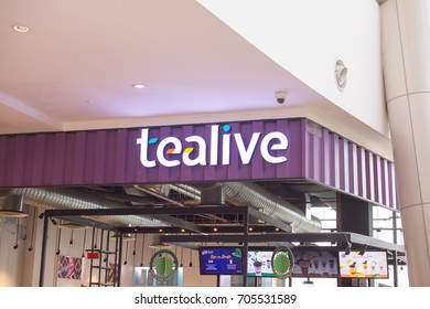 KUALA LUMPUR, MALAYSIA - August 24, 2017 : Tealive have a variety of drinks under the categories of Tea, Coco, Coffee, Smoothies, Sea Salt Cheese, Matcha, Fruit Tea, and Sparkling Juice.