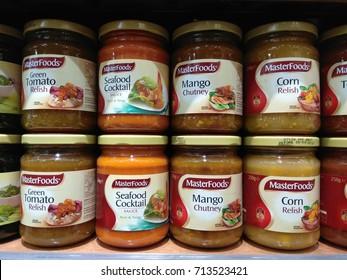 KUALA LUMPUR, MALAYSIA - AUGUST 26, 2017: Masterfoods brand sandwich sauce on store shelf.