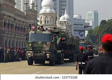 KUALA LUMPUR, MALAYSIA - AUGUST 31: Malaysian Armed Forces takes part during the Independence Day celebration in Kuala Lumpur, Malaysia, 31 August 2013.