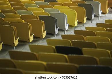 KUALA LUMPUR, MALAYSIA - August 9, 2017: Seating at the Bukit Jalil National Stadium.The main venue for 2017 SEA Games.