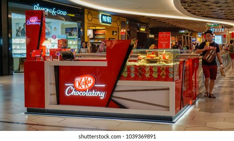 Kuala Lumpur, Malaysia - Circa March, 2018: The KitKat Chocolatory Chocolatespecialized shop