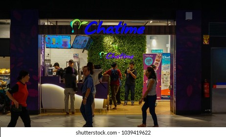 Kuala Lumpur, Malaysia - Circa March, 2018: The original Chatime bubble drink shop