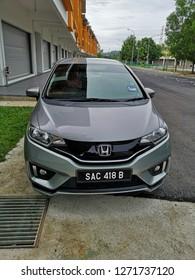 KUALA LUMPUR, MALAYSIA - DEC 28, 2018 : Subcompact car, Honda Jazz / Fit.