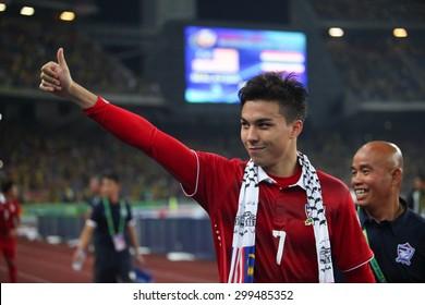 KUALA LUMPUR MALAYSIA DEC20:Charyl Chappuis celebrates winning the AFF Suzuki Cup 2014 between Malaysia and Thailand at Bukit Jalil National Stadium on December 20,2014 in Kuala Lumpur,Malaysia.