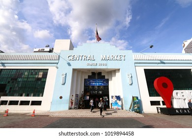 KUALA LUMPUR, MALAYSIA - DECEMBER 03, 2017: Founded in 1888, the Pasar Seni Market, also known as the Central Market, is one of the heritage buildings in Kuala Lumpur.