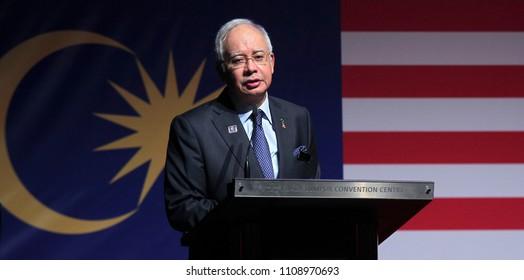 KUALA LUMPUR, MALAYSIA - DECEMBER 09, 2013 : Malaysia Prime Minister, Najib Razak.