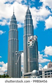 KUALA LUMPUR, MALAYSIA - DECEMBER 10: Petronas Towers on December 10, 2011 in Kuala Lumpur, Malaysia. Petronas towers are the tallest twin building in the world.