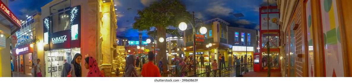 KUALA LUMPUR, MALAYSIA - DECEMBER 16: Kidzania - Panorama inside kidzania  provides children and their parents a safe and very realistic educational environment on December 16, 2014 in Kuala Lumpur
