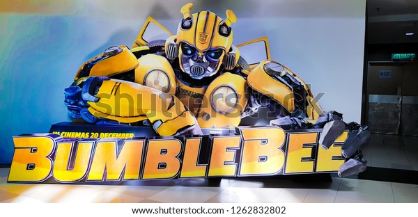 KUALA LUMPUR, MALAYSIA - DECEMBER 18, 2018: Bumblebee Movie Poster. This movie is a reboot from previous Transformers movie