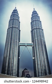 KUALA LUMPUR, MALAYSIA - DECEMBER 20: Petronas Twin Towers on December 20, 2010 in Kuala Lumpur, Malaysia. Petronas Towers are twin skyscrapers and were tallest buildings in the world until 2004
