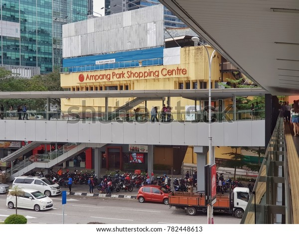 Kuala Lumpur, Malaysia. December 27, 2017. The Ampang Park shopping centre, which began operations in 1973, will be demolished to make way for the construction of the Mass Rapid Transit Station