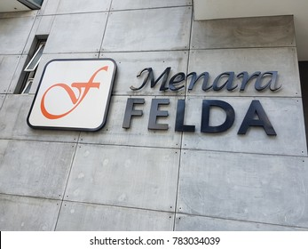 Kuala Lumpur, Malaysia. December 28, 2017. Federal Land Development Authority (FELDA) headquarters in Platinum Park, KLCC is a Malaysian government agency that was founded for rural development