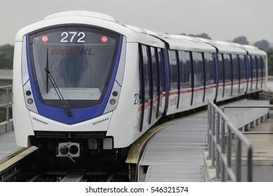 KUALA LUMPUR, MALAYSIA - DECEMBER 29, 2016. A light rail transit (LRT) service in Kuala Lumpur.