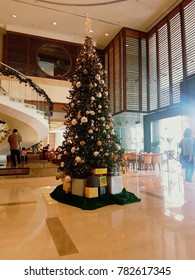 Kuala Lumpur, Malaysia - December 7, 2017 : Scene of Christmas Tree and decoration.Kuala Lumpur is the capital city of Malaysia.
