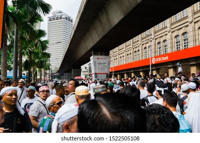 Kuala Lumpur, Malaysia - December 8 2018: Thousand of supporters attending a peaceful rally of anti-ICERD ( International Convention on the Elimination of All Forms of Racial Discrimination )