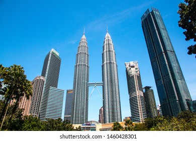 KUALA LUMPUR, MALAYSIA, FEB 16, 2018: Petronas Tower view, Malaysia