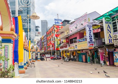 Kuala Lumpur, Malaysia - Feb 7,2017 : People can seen exploring around Brickfields Little India in KL, it was transformed by the Indian community into a wide street with Indian stores and restaurants.