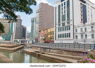 KUALA LUMPUR, MALAYSIA - FEBRUARY 08, 2015: Cityscape of Kuala Lumpur at Merdeka Square. The main square of the city reminds the British colonization