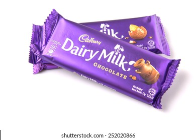 KUALA LUMPUR, MALAYSIA - FEBRUARY 11TH 2015. Owned by Mondel?z International, Cadbury is the second largest confectionery brand in the world and operates in more than fifty countries worldwide.