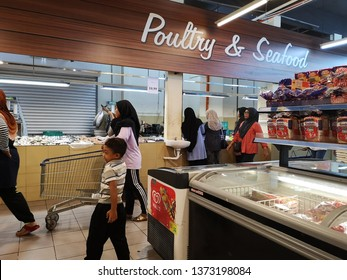 Kuala Lumpur, Malaysia- February 15, 2019: various type of fish sell in the Econsave supermarket. Econsave is one of the supermarket chains in Malaysia.