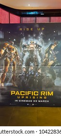 KUALA LUMPUR, MALAYSIA - FEBRUARY 17, 2018: Pacific Rim Uprising movie poster. Pacific Rim Uprising is an upcoming American science fiction action film featuring John Boyega as Jake Pentecost