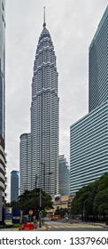 Kuala Lumpur, Malaysia. February 19, 2015. KLCC or Petronas Towers, also known as the Petronas are world's tallest twin tower. offices and tourist attraction skyscraper 88-floor in Kuala Lumpur.