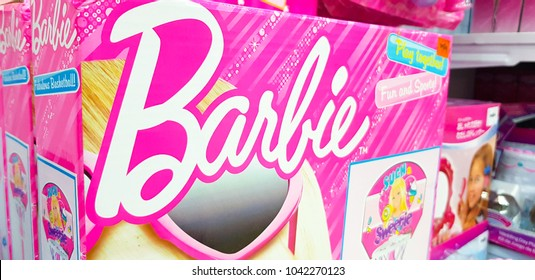 KUALA LUMPUR, MALAYSIA - FEBRUARY 23, 2018: Barbie is a fashion doll manufactured by the American toy company Mattel, Inc. and launched in March 1959