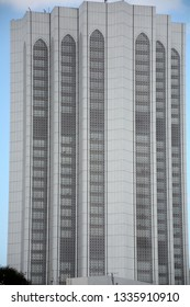KUALA LUMPUR, MALAYSIA - FEBRUARY 23 : Old Petronas Tower on 23 February 2019 at Kuala Lumpur, Malaysia. Petronas is the Malaysian state oil company.