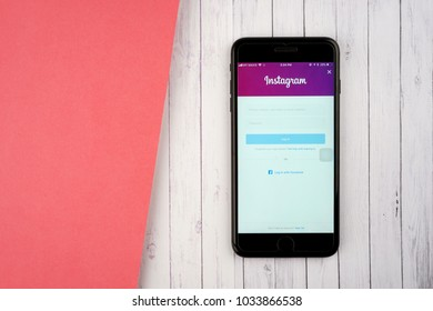 KUALA LUMPUR, MALAYSIA - FEBRUARY 27, 2018: Instagram application on an Apple iPhone. Instagram is a popular social media application for sharing photos and videos with more than 800 million users.