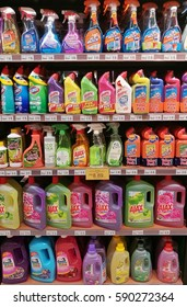 KUALA LUMPUR, MALAYSIA - FEBRUARY 27TH, 2017: Rows of shelf inside Jaya Hypermarket in Da Men Building, a local shopping chain that offers imported sundry and fresh organic marketing experience