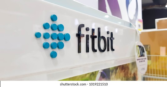 KUALA LUMPUR, MALAYSIA - FEBRUARY 3, 2018: Fitbit is an American company headquartered in San Francisco, known for its products for activity trackers that measure data involved in fitness