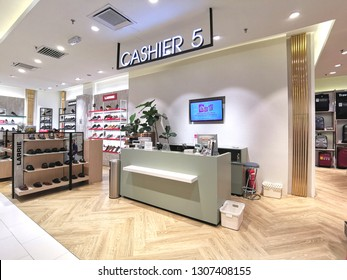 Kuala Lumpur, Malaysia- February 4, 2019: cashier counter in the Parkson outlet. Parksonis an Asian-baseddepartment storeoperator.