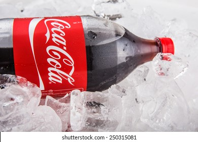 KUALA LUMPUR, MALAYSIA - FEBRUARY 5TH, 2015. A bottle of Coca Cola soft drinks. Coca Cola drinks are produced and manufactured by The Coca-Cola Company, an American multinational beverage corporation