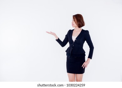 KUALA LUMPUR, MALAYSIA - FEBRUARY 7, 2018: Portrait of young business woman isolated on white background. Business is Fastest-Growing Small-Business Sectors Right Now.