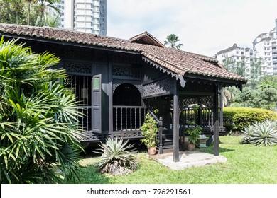 Kuala Lumpur, Malaysia - Jan 18, 2018 : Rumah Penghulu Abu Seman or Village Head House. A traditional malay wooden house from Kedah.