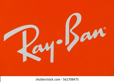 "KUALA LUMPUR, MALAYSIA - JANUARY 15, 2017: The Logo of the brand ""Ray Ban"" in Pavilion Mall, Kuala Lumpur."