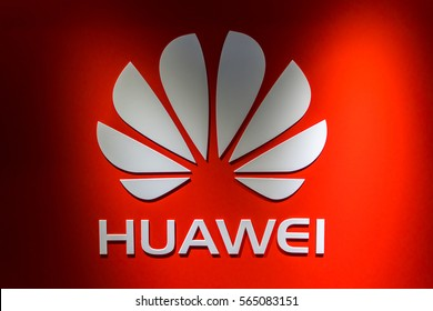KUALA LUMPUR, MALAYSIA - JANUARY 15, 2017: Logo of Huawei Technologies Company. Huawei Is a Chinese multinational company headquartered in Guangdong.