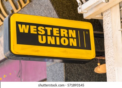 KUALA LUMPUR, MALAYSIA - JANUARY 15, 2017: Logo of Western Union. The Western Union Company is an American financial services and communications company