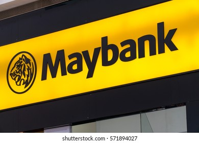 KUALA LUMPUR, MALAYSIA - JANUARY 15, 2017: Maybank logo. Maybank is the largest bank and financial group with 401 domestic branches in Malaysia.