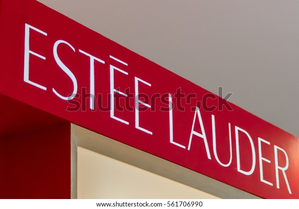 KUALA LUMPUR, MALAYSIA - JANUARY 15, 2017: Estee Lauder store display. Estee Lauder is an American manufacturer and marketer of high-end skincare, makeup, fragrance and hair care products.