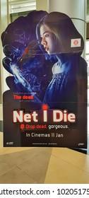 KUALA LUMPUR, MALAYSIA - JANUARY 17, 2018: Net I Die movie poster, is a 2017 Thailand Horror Film