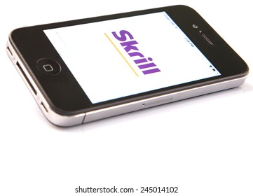 KUALA LUMPUR, MALAYSIA - JANUARY 17TH, 2015. Skrill (formerly Moneybookers) is an e-commerce business for payment and money transfer online, owned by UK based company, Skrill Limited.