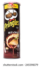 KUALA LUMPUR, MALAYSIA - JANUARY 19TH 2015. Owned by the Kellogg Company, Pringles is a brand of potato snack chips sold in 140 countries with yearly sales of more than US 1.4 billion dollars.