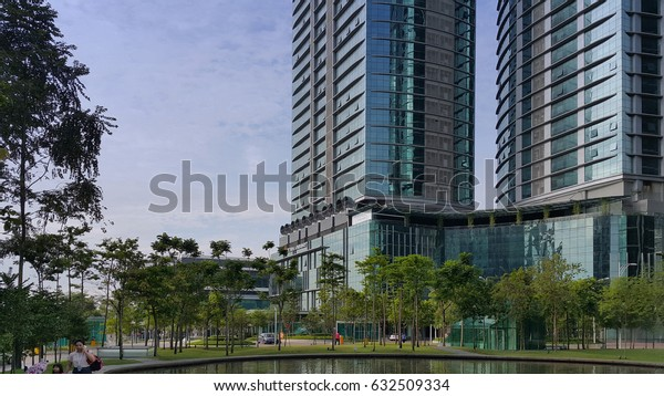 Kuala Lumpur, Malaysia - January 2017: Bangsar South is an integrated property development project in Kuala Lumpur, Malaysia. The area mainly focuses on corporate offices and high-end residencies.