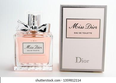 Kuala Lumpur, Malaysia - January 4, 2019 : Shop Miss Dior Eau de Toilette Spray by Dior at Sephora